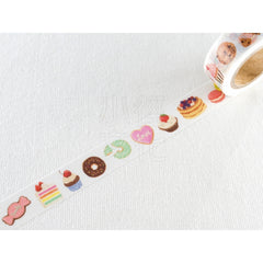 Cute Kawaii Mind Wave Foodies Washi / Masking Deco Tape - B - Sweet Cookies Cake Cupcakes Donut - for Scrapbooking Journal Planner Craft