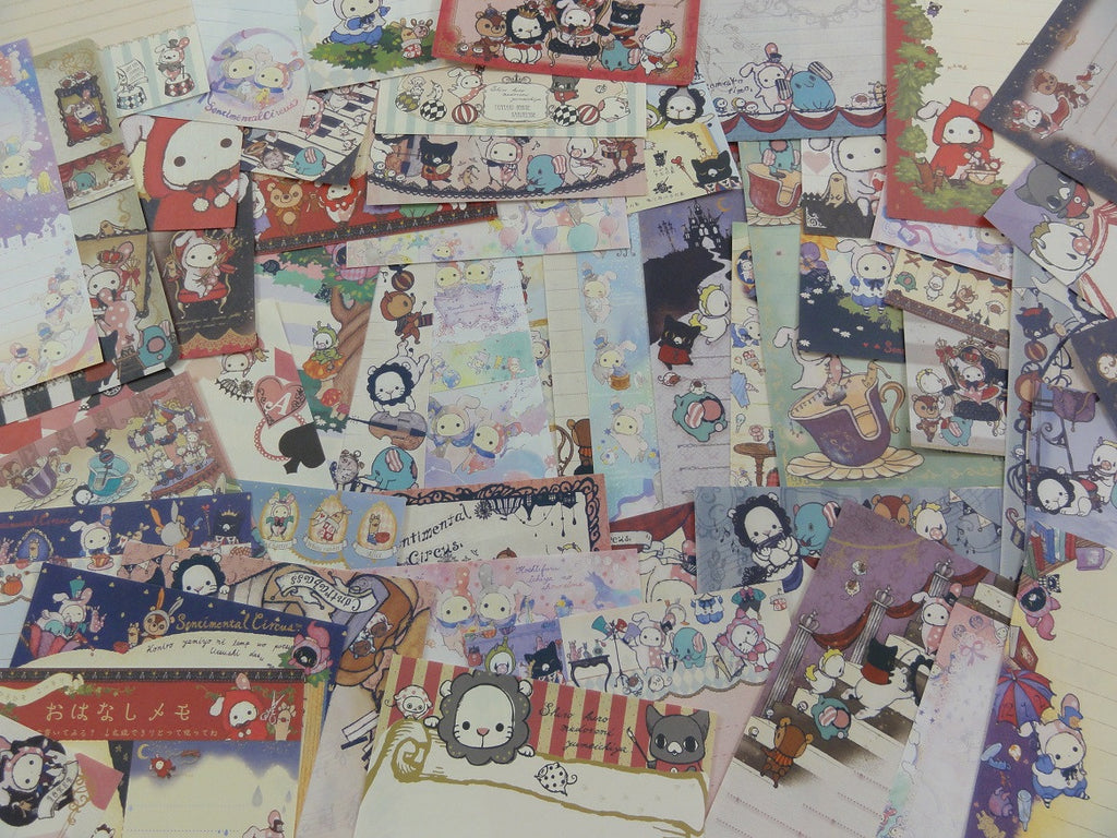 San-X Sentimental Circus 80 Memo Note Paper Set