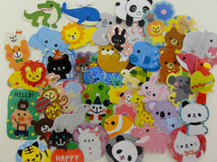Cute Kawaii Animals Zoo Safari theme Flake Sack Stickers - 40 pcs
