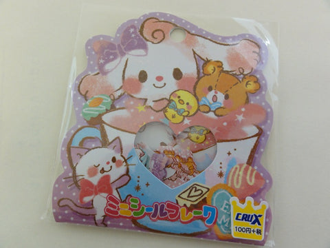 Cute Kawaii Crux Cup Size Rabbit Bunny Stickers Flake Sack