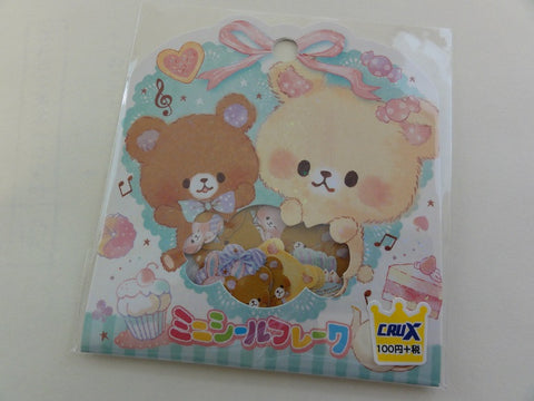 Cute Kawaii Crux Cup Size Bear and Rabbit Macaroon Stickers Flake Sack