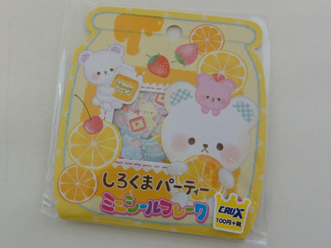 Cute Kawaii Crux Bear Honey Orange Strawberry Stickers Flake Sack