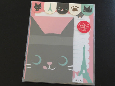 Cute Kawaii Chat Noir Neko Cat Friends Letter Sets with Stickers