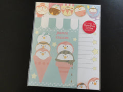 Cute Kawaii Pence Cream Penguin Ice Cream Letter Sets with Stickers