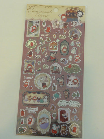 Cute Kawaii San-X Sentimental Circus Alice Glitter Sticker Sheet