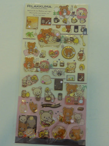 Cute Kawaii San-X Rilakkuma Chocolate and Coffee Sticker Sheet - B
