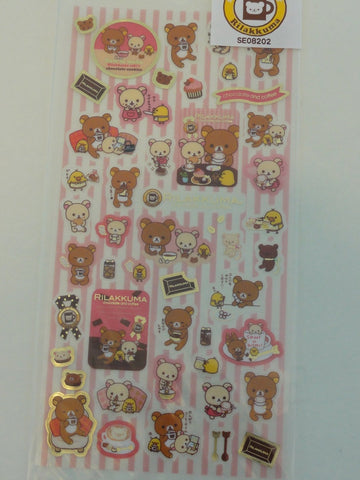 Cute Kawaii San-X Rilakkuma Chocolate and Coffee Sticker Sheet - A