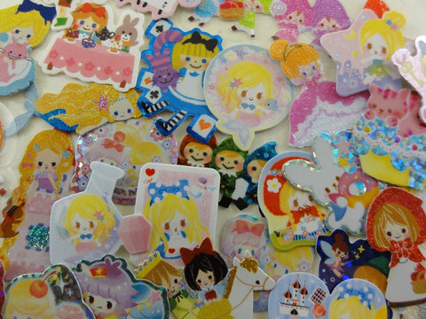 z Princess Fairy Tale Flake Sack Stickers - 58 pcs