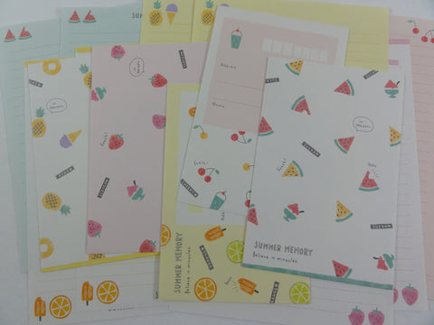 Crux Fruit Summer Memory Strawberry Pineapple Watermelon Letter Sets - Stationery Writing Paper Envelope