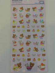 Cute Kawaii San-X Rilakkuma Glitter Muffin Bakery Sticker Sheet