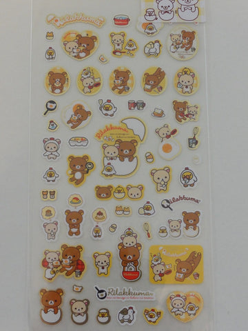 Cute Kawaii San-X Rilakkuma Eggs Breakfast Sticker Sheet