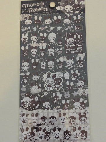 Cute Kawaii San-X Monoch Rabbits Sticker Sheet