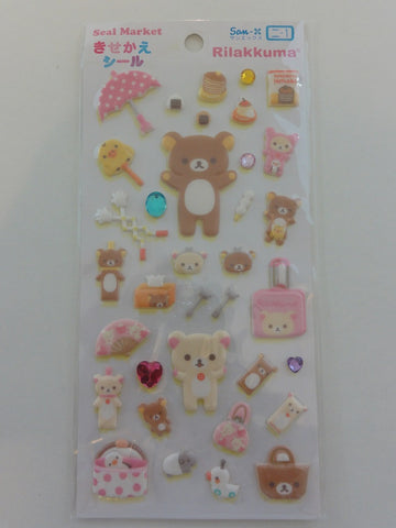 Cute Kawaii San-X Rilakkuma Spring Time Puffy Sticker Sheet
