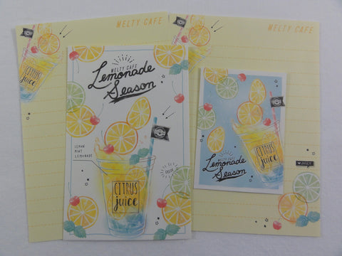 Cute Kawaii Crux Lemonade Season Juice Mini Letter Sets - Small Writing Note Envelope Set Stationery