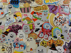 Ghost / Halloween Flake Sack Stickers - 55 pcs