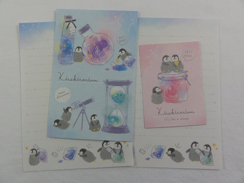 Cute Kawaii Crux Penguin Kirakirarium Mini Letter Sets - Small Writing Note Envelope Set Stationery