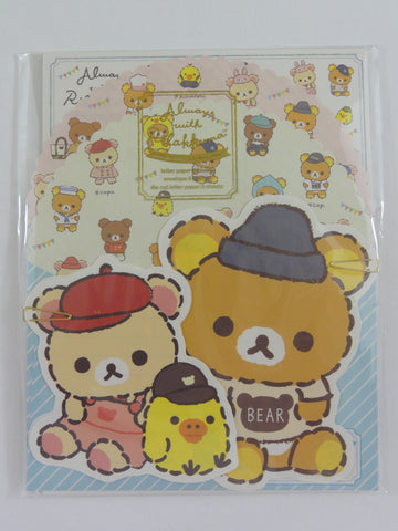 Cute Kawaii San-X Rilakkuma Bear Always with Letter Set Pack - 2019 - Writing Paper Envelope Stationery