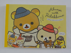 Cute Kawaii San-X Rilakkuma Bear Always with theme 4 x 6 Inch Notepad / Memo Pad - Stationery Designer Paper Collection