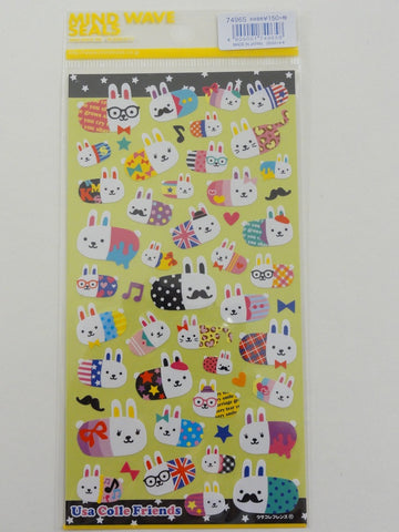 Cute Kawaii Mind Wave Usa Colle Rabbits Sticker Sheet