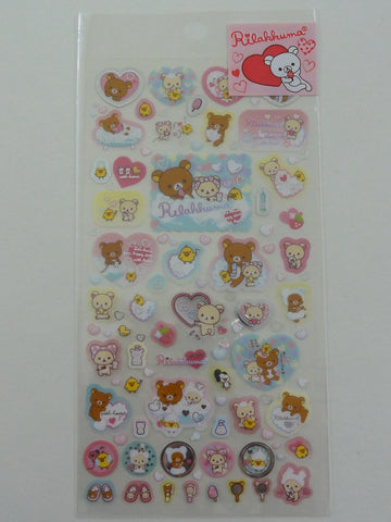 Cute Kawaii San-X Rilakkuma Bath Time Sticker Sheet