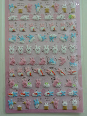 Cute Kawaii Crux Chima Friends Rabbits Bunny Sticker Sheet