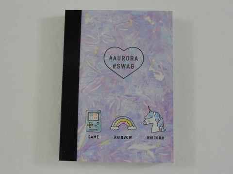 Cute Kawaii Crux Unicorn Game #Aurora #SWAG Mini Notepad / Memo Pad - Stationery Designer Paper Collection