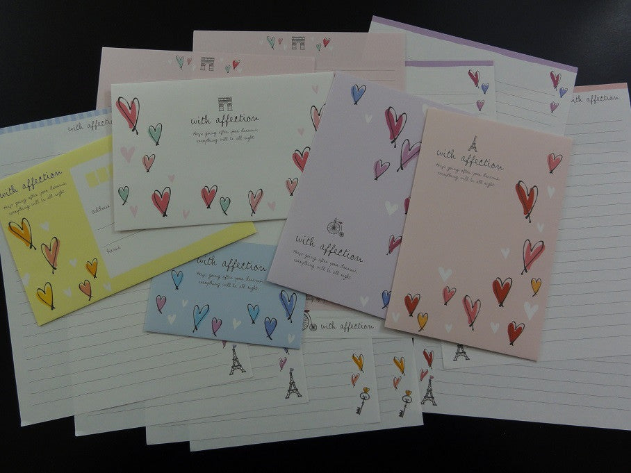 z Crux With Affection Hearts Letter Sets
