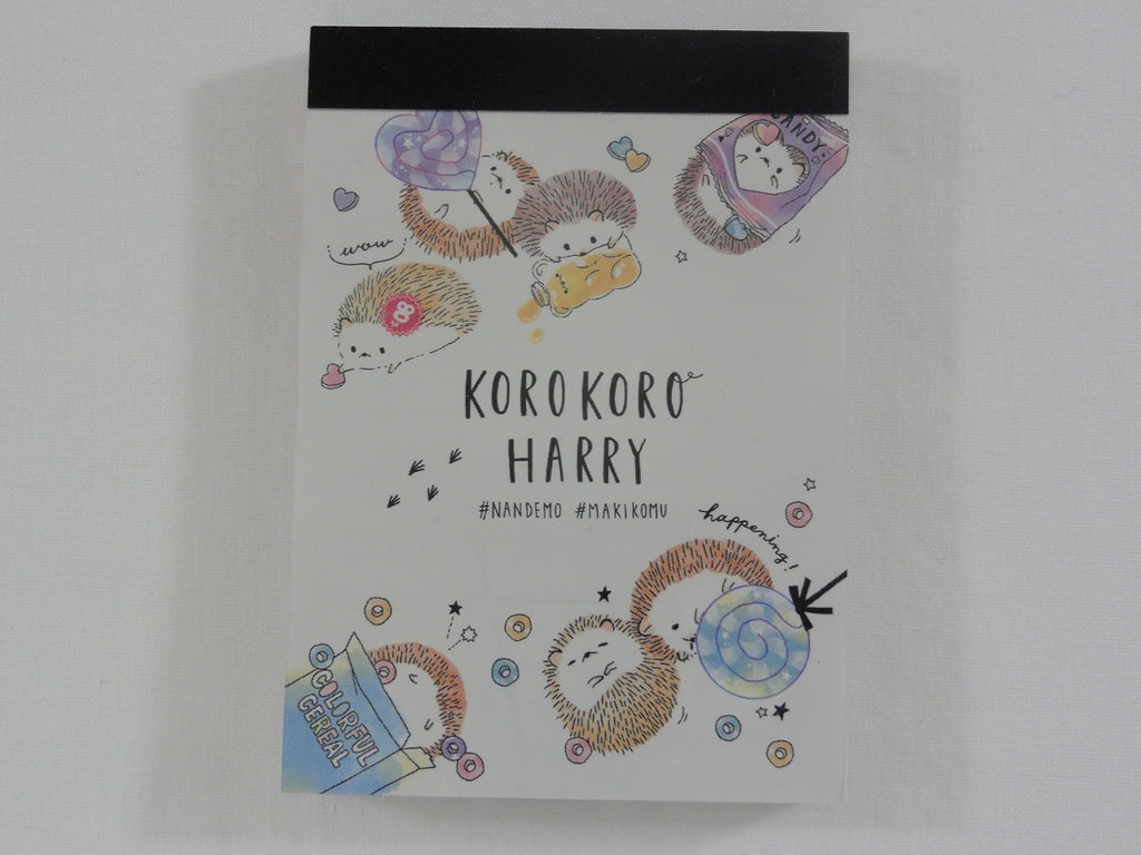 Cute Kawaii Crux Hedgehog Candy Friends Mini Notepad / Memo Pad - Stationery Designer Paper Collection