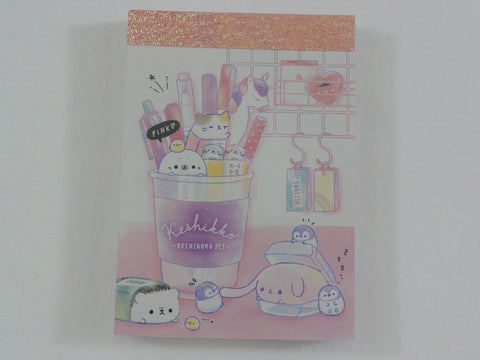Cute Kawaii Crux Keshikko Stationery Unicorn Hedgehog Cat Penguin Seal Animal Mini Notepad / Memo Pad - A - Stationery Designer Paper Collection