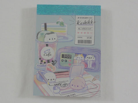Cute Kawaii Crux Keshikko Cafe Unicorn Hedgehog Cat Penguin Seal Animal Mini Notepad / Memo Pad - B - Stationery Designer Paper Collection
