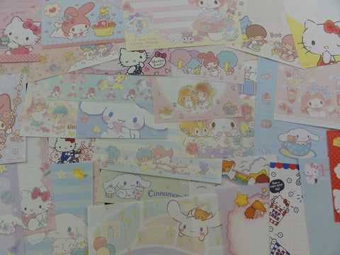 Cute Kawaii Cinnamoroll Hello Kitty My Melody Little Twin Stars Paper Memo Note Set Sanrio