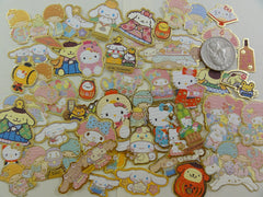 z Cute Kawaii Sanrio Characters Hello Kitty My Melody Purin Little Twin Stars Cinnamoroll Flake Sack Stickers - 50 pcs - A
