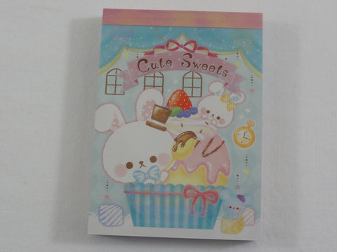 Cute Kawaii Crux Cute Sweets Rabbit Mini Notepad / Memo Pad - Stationery Design Writing Collection
