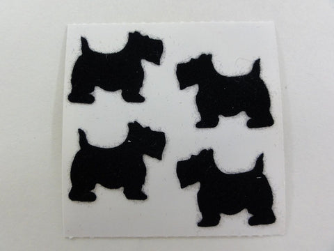 Sandylion Dog Fuzzy Sticker Sheet / Module - Vintage & Collectible