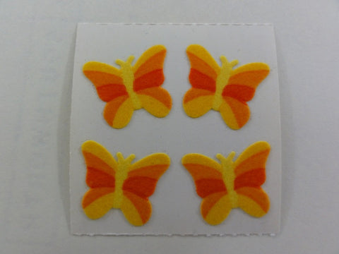 Sandylion Butterfly Fuzzy Sticker Sheet / Module - Vintage & Collectible