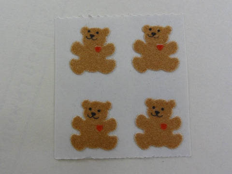 Sandylion Bear Fuzzy Sticker Sheet / Module - Vintage & Collectible
