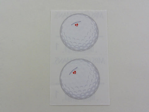 Mrs Grossman Golf Ball Sticker Sheet / Module - Vintage & Collectible