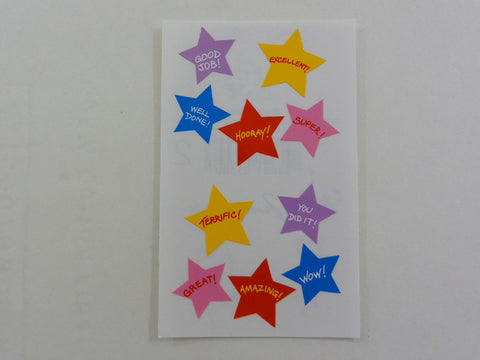 Mrs Grossman Super Stars Sticker Sheet / Module - Vintage & Collectible 1989