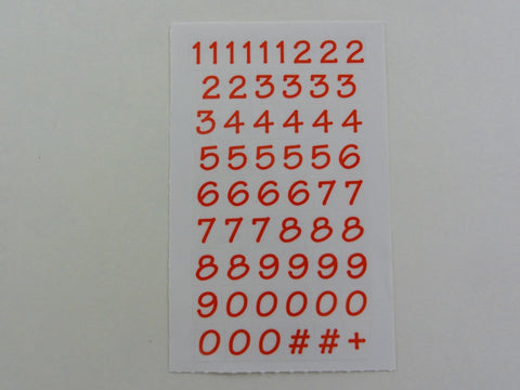 Mrs Grossman Numbers Bitsy Red Sticker Sheet / Module - Vintage & Collectible 2005