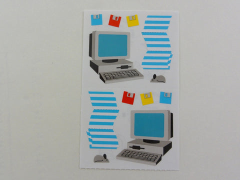 Mrs Grossman Computer Desktop Disks Sticker Sheet / Module - Vintage & Collectible 1994