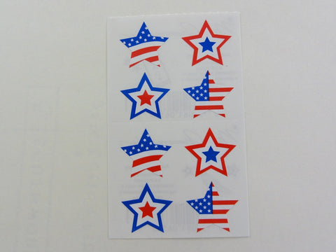 Mrs Grossman American Stars Sticker Sheet / Module - Vintage & Collectible 2002