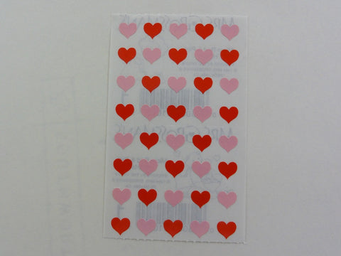 Mrs Grossman Micro Red and Pink Hearts Sticker Sheet / Module - Vintage & Collectible 1984