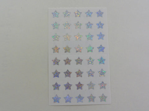Mrs Grossman Silver Stars micro Sticker Sheet / Module - Vintage & Collectible 1996