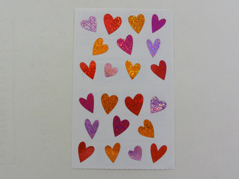 Mrs Grossman Sparkle Tiny Hearts Sticker Sheet / Module - Vintage & Collectible 2007