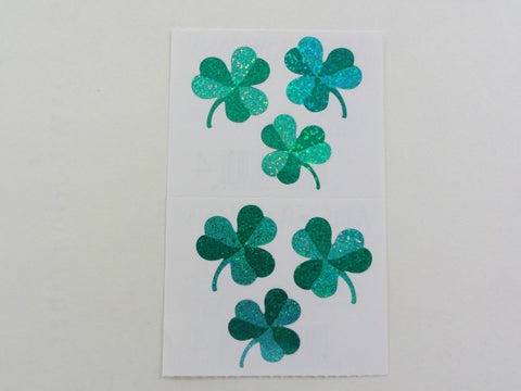 Mrs Grossman Shamrocks Clover Sticker Sheet / Module - Vintage & Collectible 2006