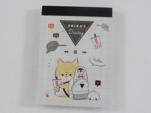 Cute Kawaii Kamio Dog n Penguin Mini Notepad / Memo Pad - Stationery Designer Paper Collection