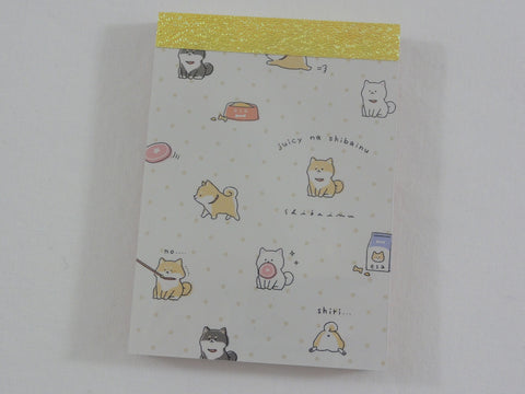 Cute Kawaii Kamio Dog Juicy na Shibainu Mini Notepad / Memo Pad - Stationery Designer Paper Collection