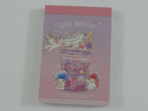 Cute Kawaii Sanrio Little Twin Stars Unicorn Mini Notepad / Memo Pad - Stationery Designer Paper Collection