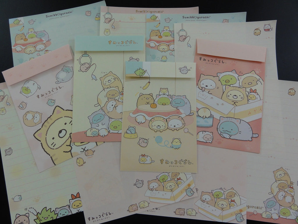 San-X Sumikko Gurashi Dressed as Cats Letter Sets - B