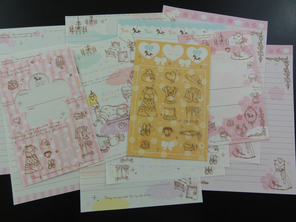 Cute Kawaii Kamio Girl Fashion Room Letter Sets